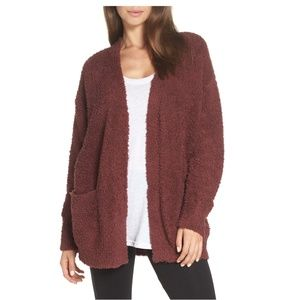 Barefoot Dreams Cozychic Knit Red Cardigan